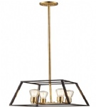 4 Light Golden Pendant Lighting